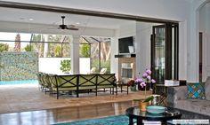 Accordion Glass Doors | Santa Clara Mediterranean elevation | Fox Signature Homes