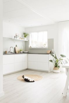 3 Amazing and Unique Tricks: Minimalist Home Design Big Windows minimalist kitchen lighting sinks.Minimalist Home Design Bedrooms minimalist bedroom wardrobe walk in.Minimalist Home Diy Shelves. Minimalist Living, Minimalist Bedroom, Minimalist Decor, Modern Minimalist, Ikea Kitchen, Kitchen Interior, Kitchen Decor, Kitchen Styling, Minimalist Kitchen Cabinets