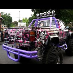 Muddy Girl Camouflage, Pink Camo, Pink Camoulfage Off Road Wheels and Tires