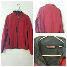 Men's Black Diamond Jacket Never used. Bright red with super soft grey interior. Several zip pockets. Protects from wind and cold. Jackets & Coats