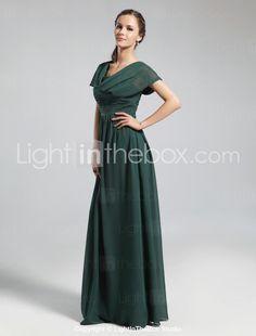 classy cowl floor-length bridesmaid dress