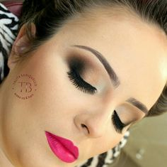 Maquiagem marrom e preto por Talita Bariquello