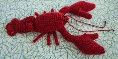 Lobster - Crochet pattern by Heather Wienclawski. Pattern is $2 on Ravelry.