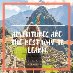 """""""Adventures Are The Best Way To Learn."""" (^_^) #FollowUs & #StayTuned for updates \m/ #travel #instatravel #travelgram #instatraveler #instatrip #instaquote #quotes #motivation #instaphoto #photography #travelquote #liveitup #startups #business #subscribe #nature #mountains #ota #tourists #world #tours"""