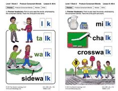 "Produce Consonant Blends ""ld"" and ""lk"": Lesson 6, Book 2 (Newitt Grade 1 Prereading)"