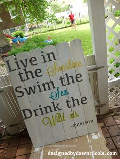 DIY Fence Board Garden Sign love this! Diy Fence, Fence Ideas, Old Fence Boards, Wood Crafts, Diy Crafts, Pool Signs, Fun Crafts To Do, Garden Whimsy, Garden Signs