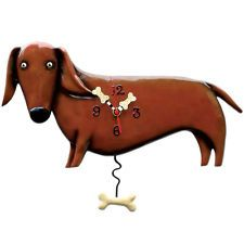 My mother-in-law got me this for Christmas!  It's even cuter in person!    Dachshund clock.