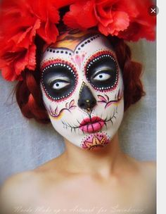 Check Out 23 Best Sugar Skull Halloween Makeup Ideas. Sugar skull makeup is everywhere around Dia de los Muertos, and the skill and work involved in creating many of these looks is mind-blowing. Sugar Skull Halloween, Maquillage Halloween Sugar Skull, Halloween Vintage, Halloween Men, Costume Halloween, Vintage Witch, Halloween Halloween, Halloween Kunst, Day Of Dead