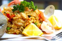 Arroz Marinero (Seafood Rice) - Colombian food!!!!