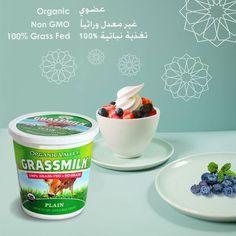 من حليب أبقار نباتية التغذية متوفر في #ثلاجات_الألبان_سيفكو في #سيفكو أورغانيك فالي زبادي سادة  Organic Valley Grassmilk Plain Yogurt Available In #saveco_dairy_fridges In #Saveco #saveco_organics