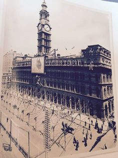 Martin Place,Sydney ~ just after Federation. Penal Colony, Architecture Old, Blue Mountain, Nice Things, Historical Photos, East Coast, Worlds Largest, Sydney, Australia