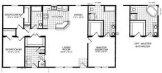 Exceptional 30 X 40 House Plans #2 Floor Plans Of 3 Bedroom House 30 X 40