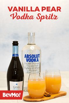 If sparkling water is your drink of choice, then you'll love this Vanilla Pear Vodka Spritz from BevMo! This light and tasty recipe mixes together vodka, vanilla syrup, pear juice, and Prosecco. Click here to learn more.