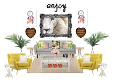 """""""Untitled #74"""" by geekyprincess on Polyvore featuring interior, interiors, interior design, home, home decor, interior decorating, NDI, ABC Italia, Southern Enterprises and Bloomingville"""