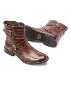 Look at this #zulilyfind! Dark Tan McMillan Leather Boot - Women #zulilyfinds