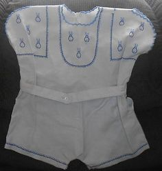 Vintage-Toddler-Infant-Romper-Suits-Home-Made-Cotton-Hand-Embroidered