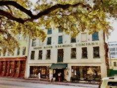 Moon River Brewing Company, Savannah, GA (Most haunted bar in America) This is my granddaughters' favorite place to eat.  The waitress took them to the basement where the ghost is said to dwell.  Jeanne
