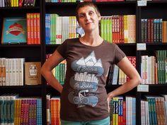 """Women's """"I Believe In Bikes"""" hemp and organic cotton shirt! $30.00"""