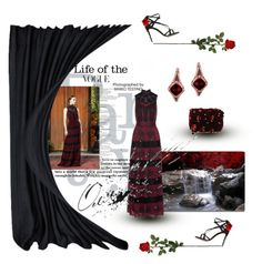 """""""Dramatic Evening!!"""" by kjlnelson ❤ liked on Polyvore featuring Trademark Fine Art, Alice + Olivia, Dolce&Gabbana, Laura Cole and LE VIAN"""