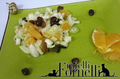 Fennel crudité enriched with cailletier olives and sweetened by orange and raisins - Fratelli ai Fornelli
