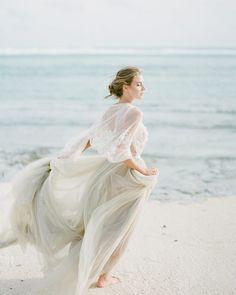 2020 bridal dresses styles Coastal Wedding Style with Gray Wedding Dress - Ethereal Wedding Dress, Luxury Wedding Dress, Wedding Beauty, Wedding Gowns, 1920s Wedding, Gray Weddings, Disney Weddings, Intimate Weddings, Beach Wedding Inspiration