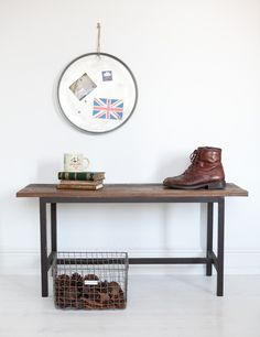 These stylish Artists Benches remind me of the pavements in East London in and around Brick Lane, where you find them sitting outside shop fronts. They are equally at home inside todays modern eclectic homes. Especially great for the hallway where you can keep the clutter at bay and keep shoes tidily tucked away underneath. These raw finish benches are made from wood and iron and add urban chic to your home.