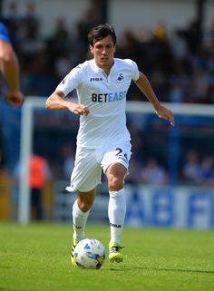 Jack Cork of Swansea City  during the Pre-Season Friendly match between Bristol Rovers and Swansea City at Memorial Stadium on July 23, 2016 in Bristol, England.