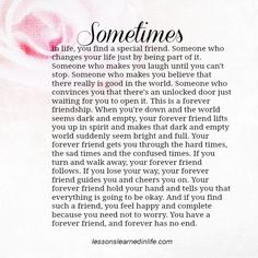 Lessons Learned in Life | Forever Friend.