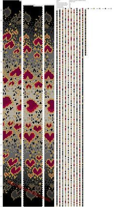 Bead rope pattern grey gold red