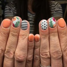 I love these cruise nails! Inspired by and Cozumel Cruise, Cruise Vacation, Us Nails, Hair And Nails, Cruise Nails, Nail Games, Pretty Hairstyles, Girly Things, Nail Designs