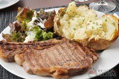 Receita de Bisteca de porco assada - Comida e Receitas
