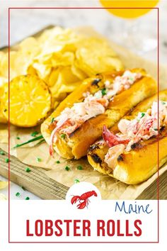 Main lobster rolls are the perfect summer dinner! These easy lobster rolls are perfect for your summer parties, and you can whip them up ahead of time for easy entertaining. Everyone will go crazy for these Maine style lobster rolls! Best Lunch Recipes, Best Seafood Recipes, Shellfish Recipes, Quick Dinner Recipes, Dog Recipes, Sandwich Recipes, Amazing Recipes, Brunch Recipes, Summer Recipes