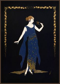 Erté (Romain de Tertoff) Art Deco poster design!