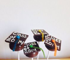 Graduation+Cake+Pops+Class+of+2014+Favors+by+LilMissCupcakeLady,+$25.00