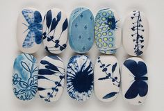 ceramic artist Clare Mahoney; grabbed my attention. Love the feel of solar printing