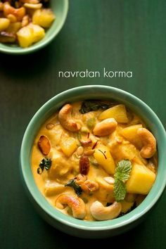 navratan korma recipe - a rich aromatic, flavorful and mildly sweet vegetable curry made with nine ingredient's #korma #mughlai