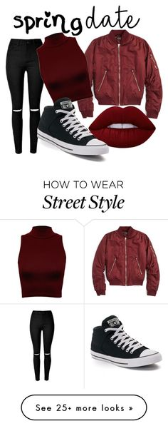 """date"" by damarisss on Polyvore featuring Topshop, WearAll, Lime Crime, Converse and contest2"