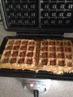 waffles de avena y miel
