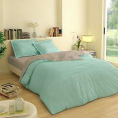 Linge de lit Colombine couleur lagon #blancheporte