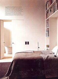 saint honoré home: vincent van duysen Home Interior, Interior Design, Vincent Van Duysen, Cantilever Chair, Belgian Style, Home Bedroom, Bedrooms, Architectural Digest, Studio