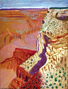 david hockney photo collage grand canyon -