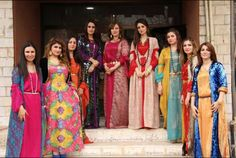 Kurdish Girls in beautiful traditional Dresses.