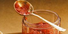Confiture rhubarbe, pomme et fruit de la passion