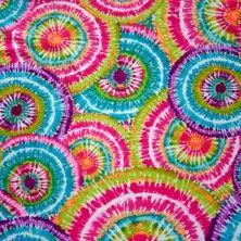 Circle Tie Dye Nylon Lycra Swimsuit Fabric