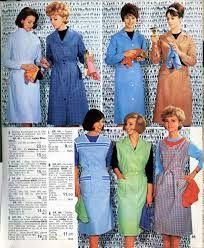 Výsledek obrázku pro nylon kittel Staff Uniforms, Smocking, Overalls, Shirt Dress, Retro, Aprons, Sexy, Childhood, Shirts