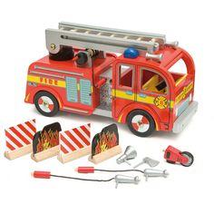 Camion de pompier en bois pour enfant Le Toy Van