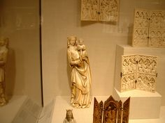 Medieval ivory religious carvings