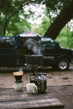 blue-bell-the-van: Rainy morning coffee back in Texas.