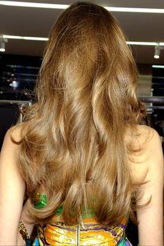 Bouncy long hair. Seen on the runways for 2012....
