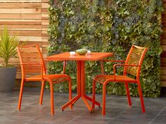 Scandinavian Designs - Transform your outdoor space with our new Alohaa table. Lightweight, stylish and comfortable. Made to weather the elements with a durable aluminum frame, powder-coated in your choice of vibrant orange, white, pink or green. The table features a slatted table top and folds for easy space saving storage.